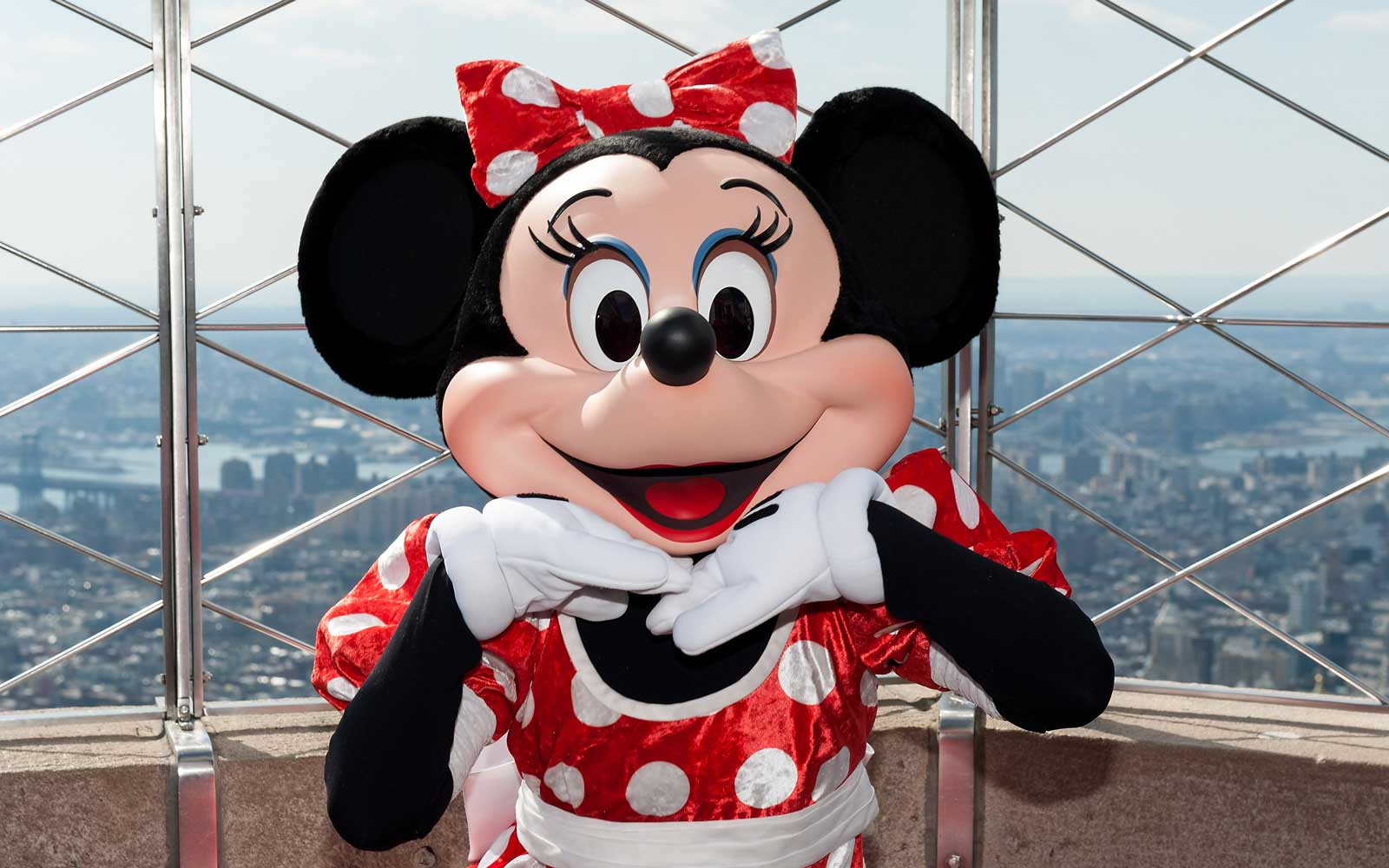 Minnie Mouse at the Empire State building