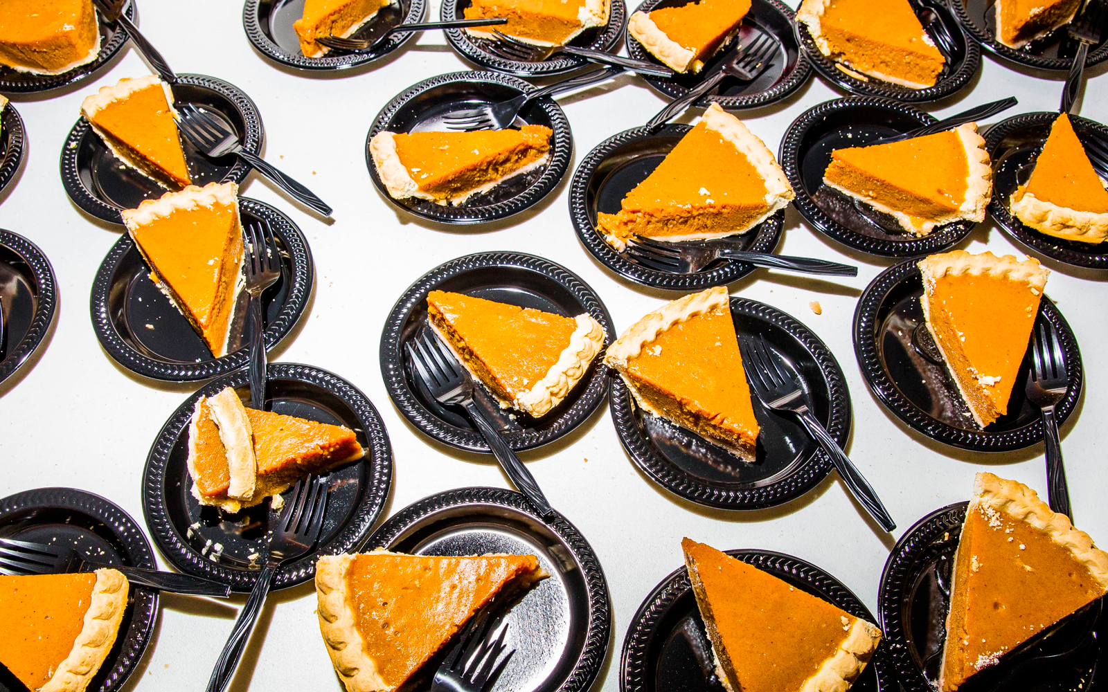 Pumpkin pie slices