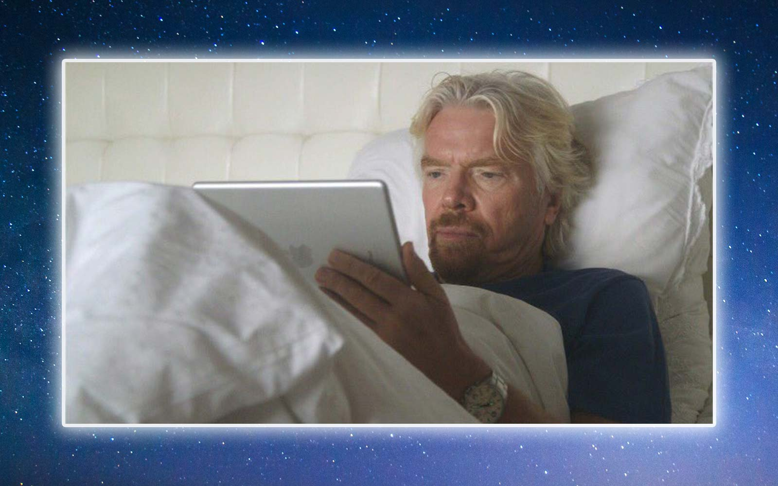 Richard Branson Nighttime Bed Routine