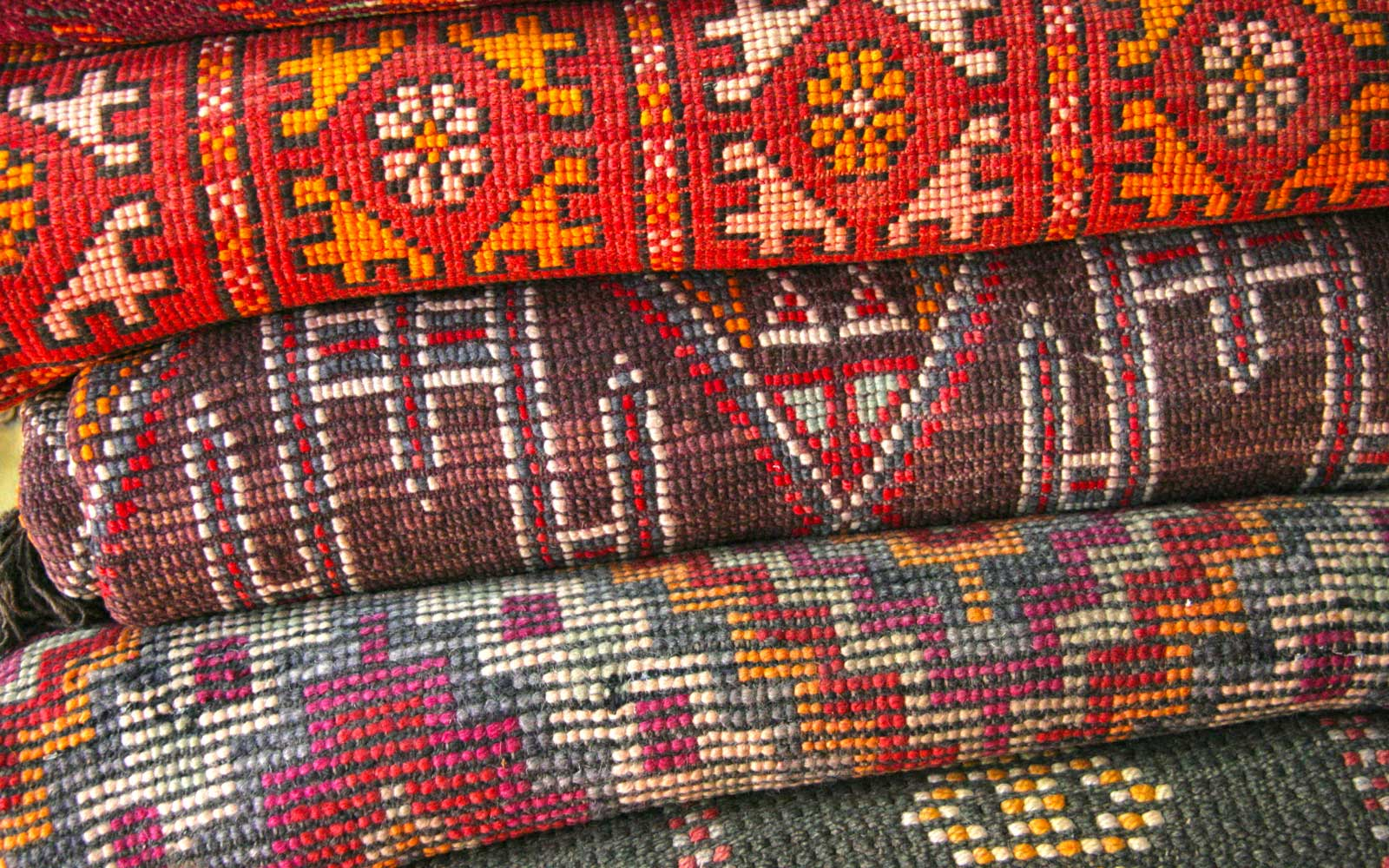 Rugs for sale in Marrakech, Morocco