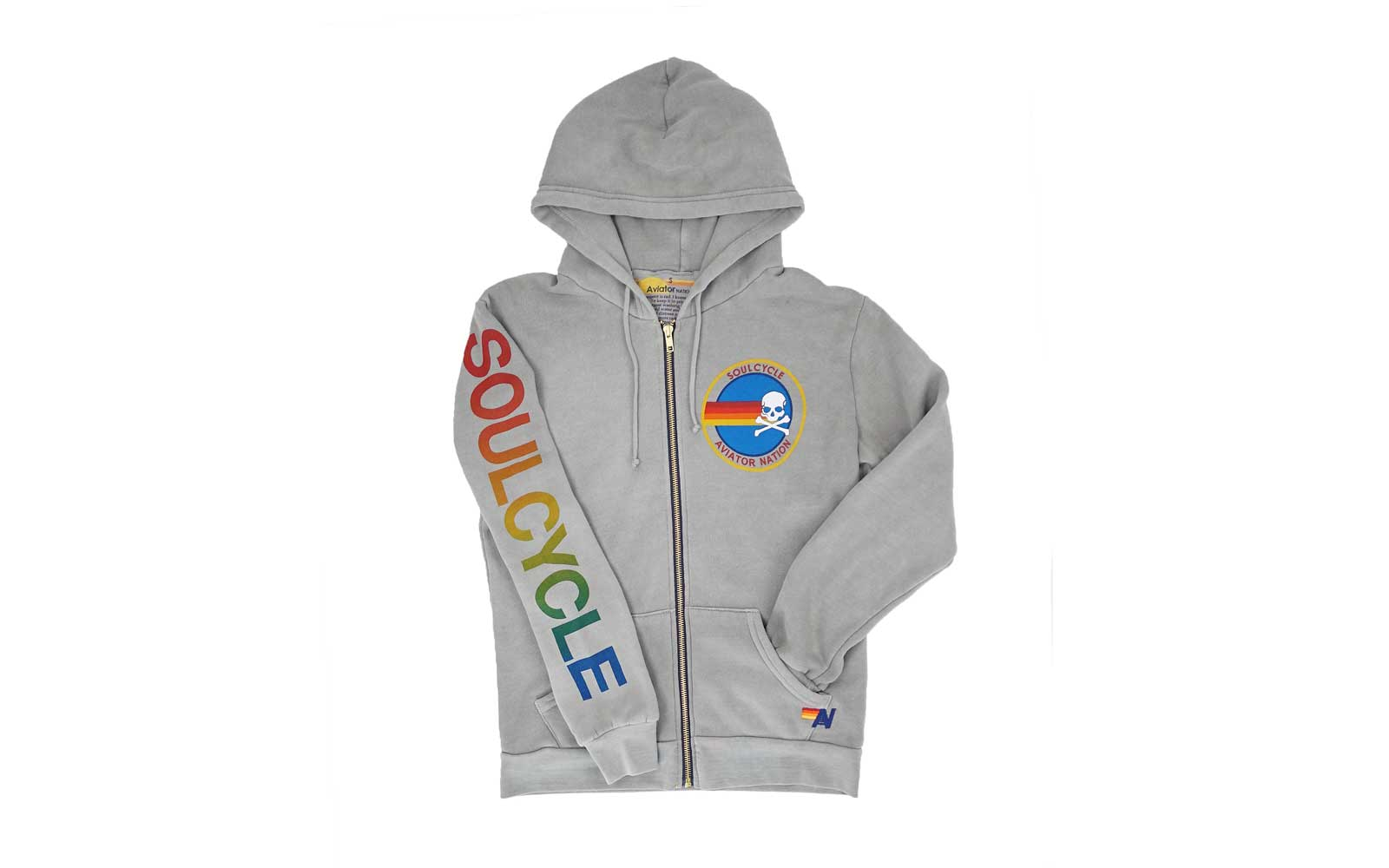 Soulcycle x Aviator Nation clothing collaboration