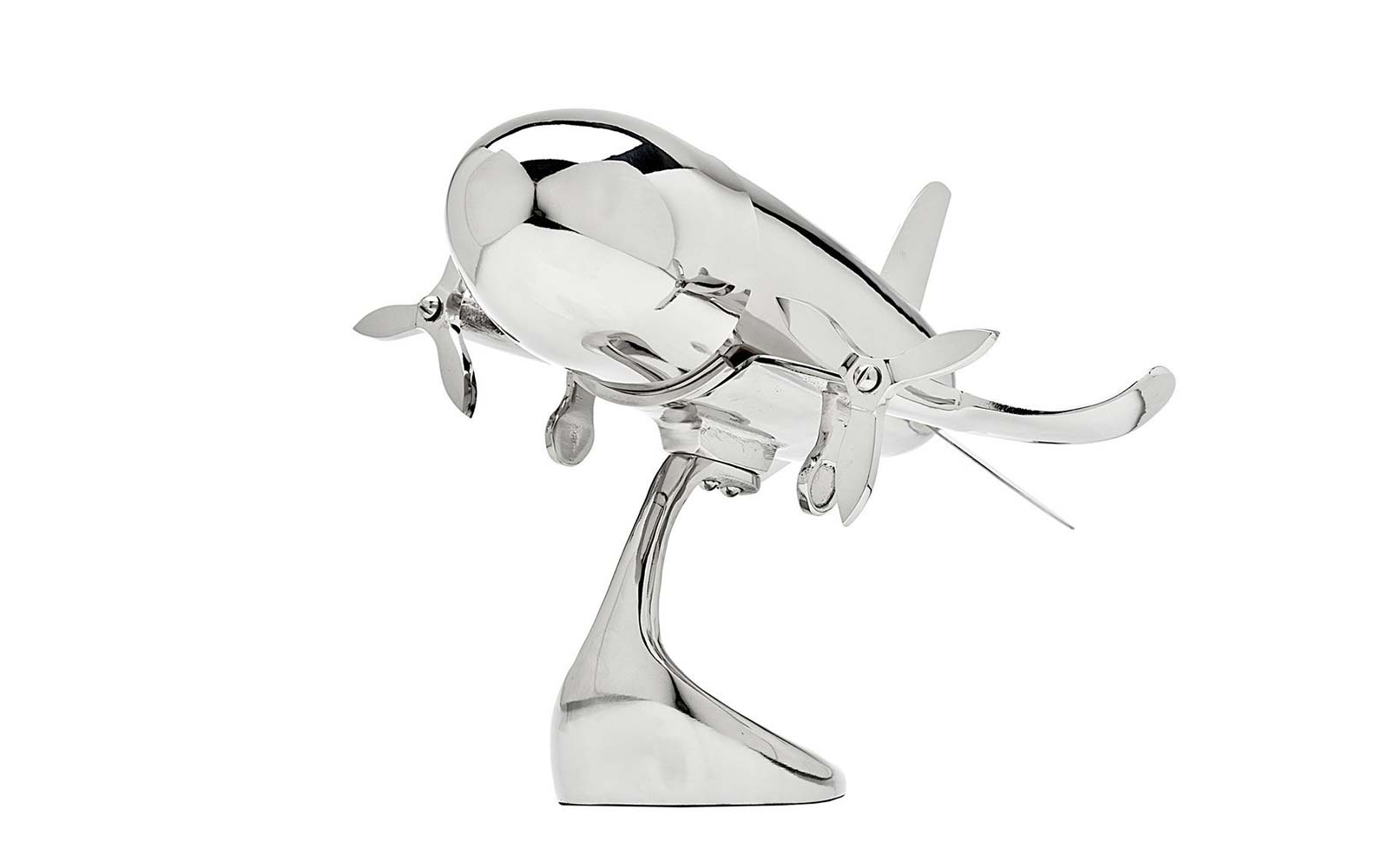 stainless steel airplane cocktail shaker