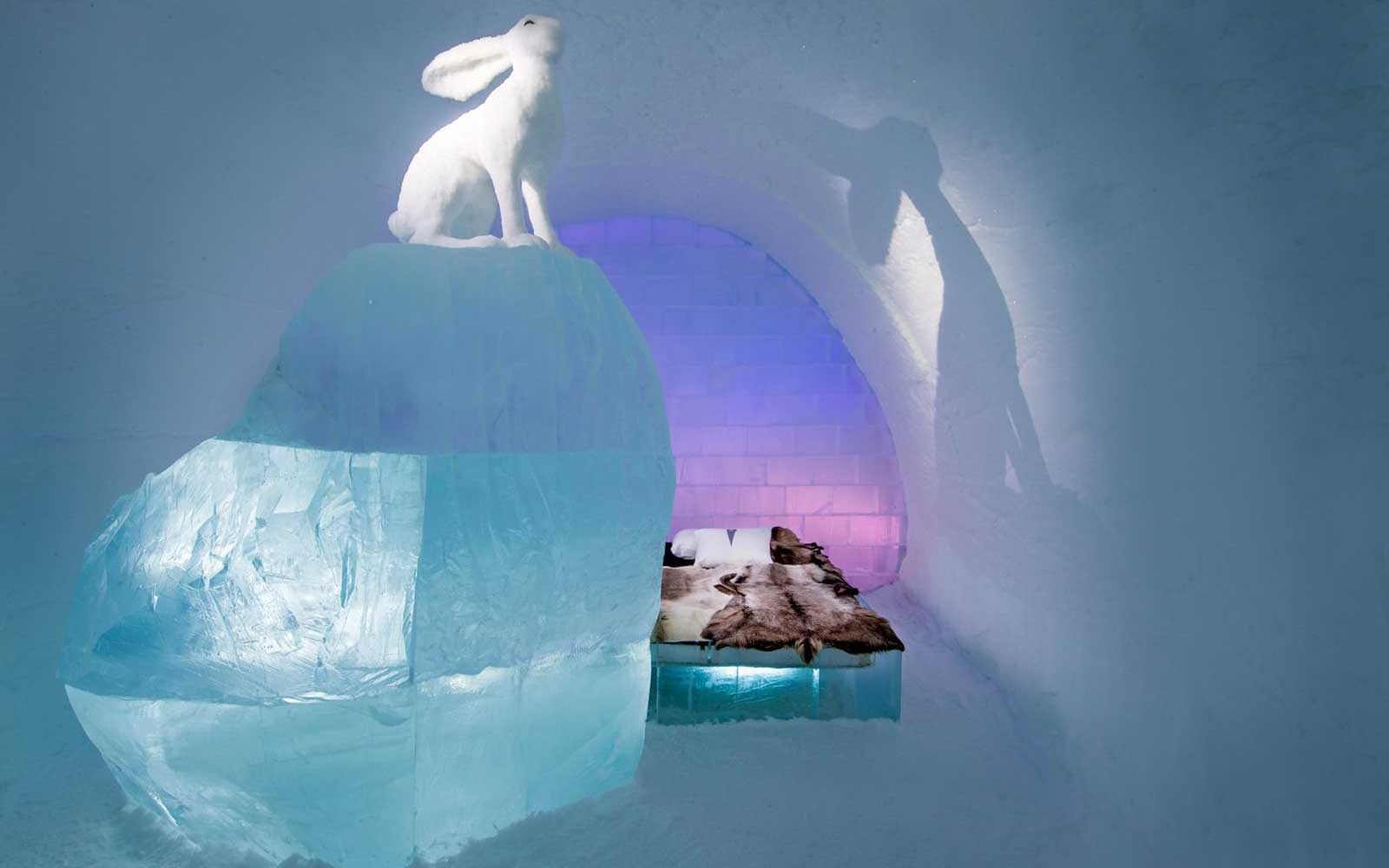 Sweden Ice Hotel Follow The White Rabbit Room