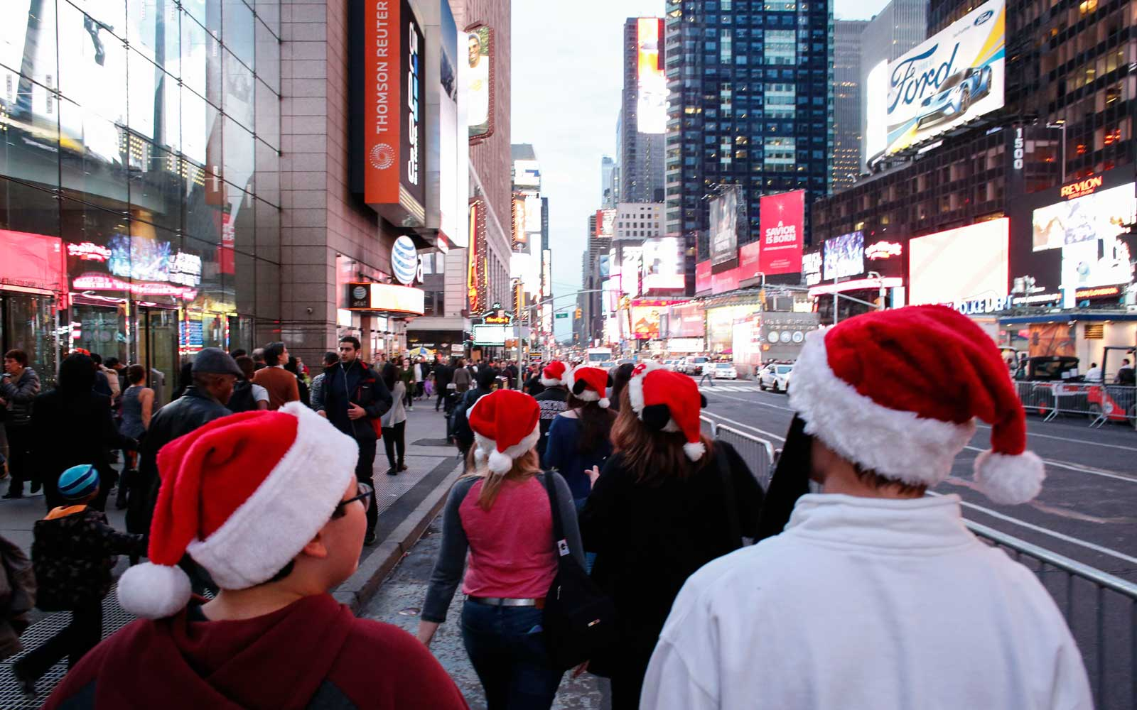 Times Square during Christmastime