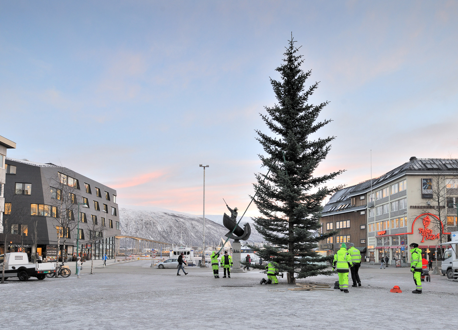 The Christmas tree in Tromso.
