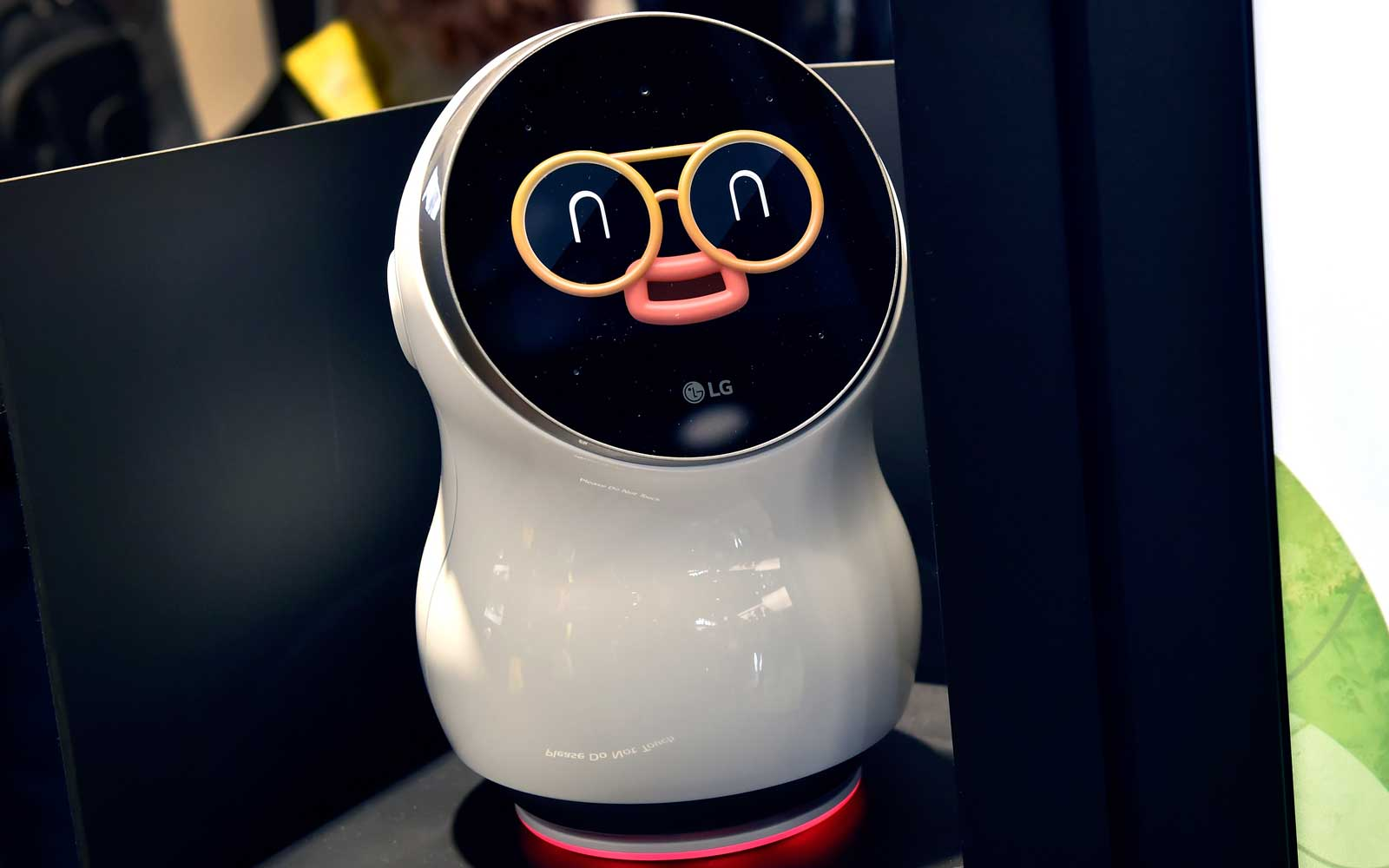 LG's CLOi personal assistant robot is displayed during CES 2018