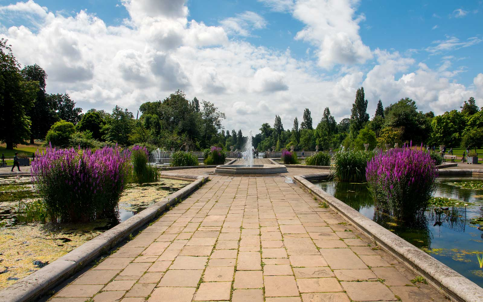 Ornamental Italian Gardens in Kensington Gardens, London, United Kingdom