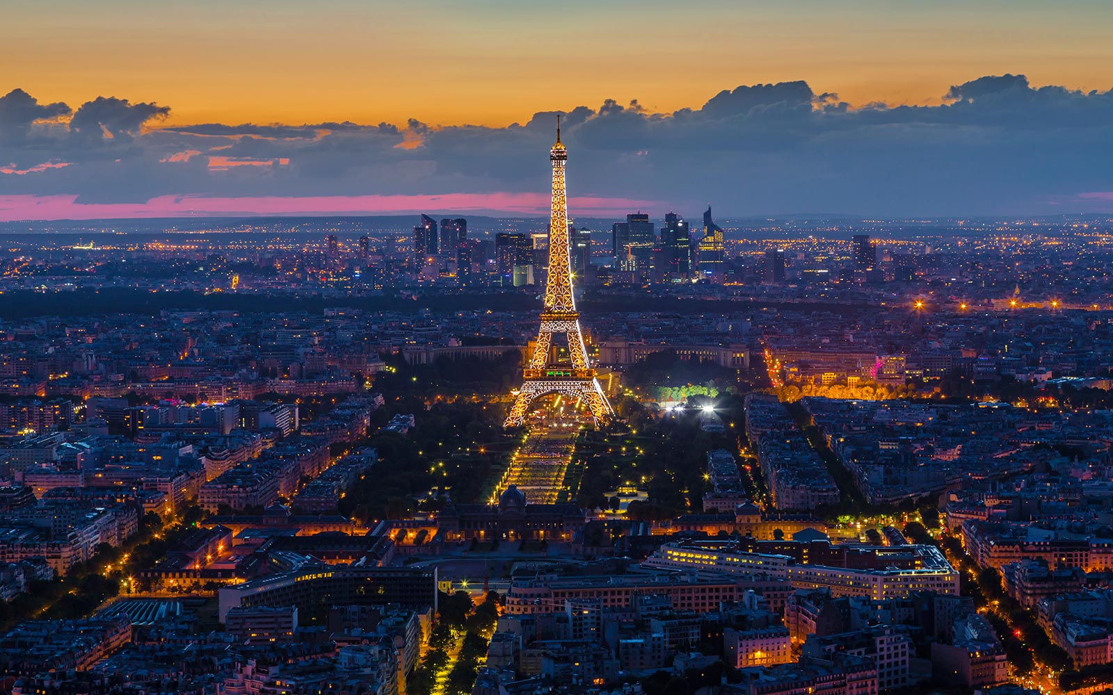Eiffel Tower Landmark Paris France Aerial