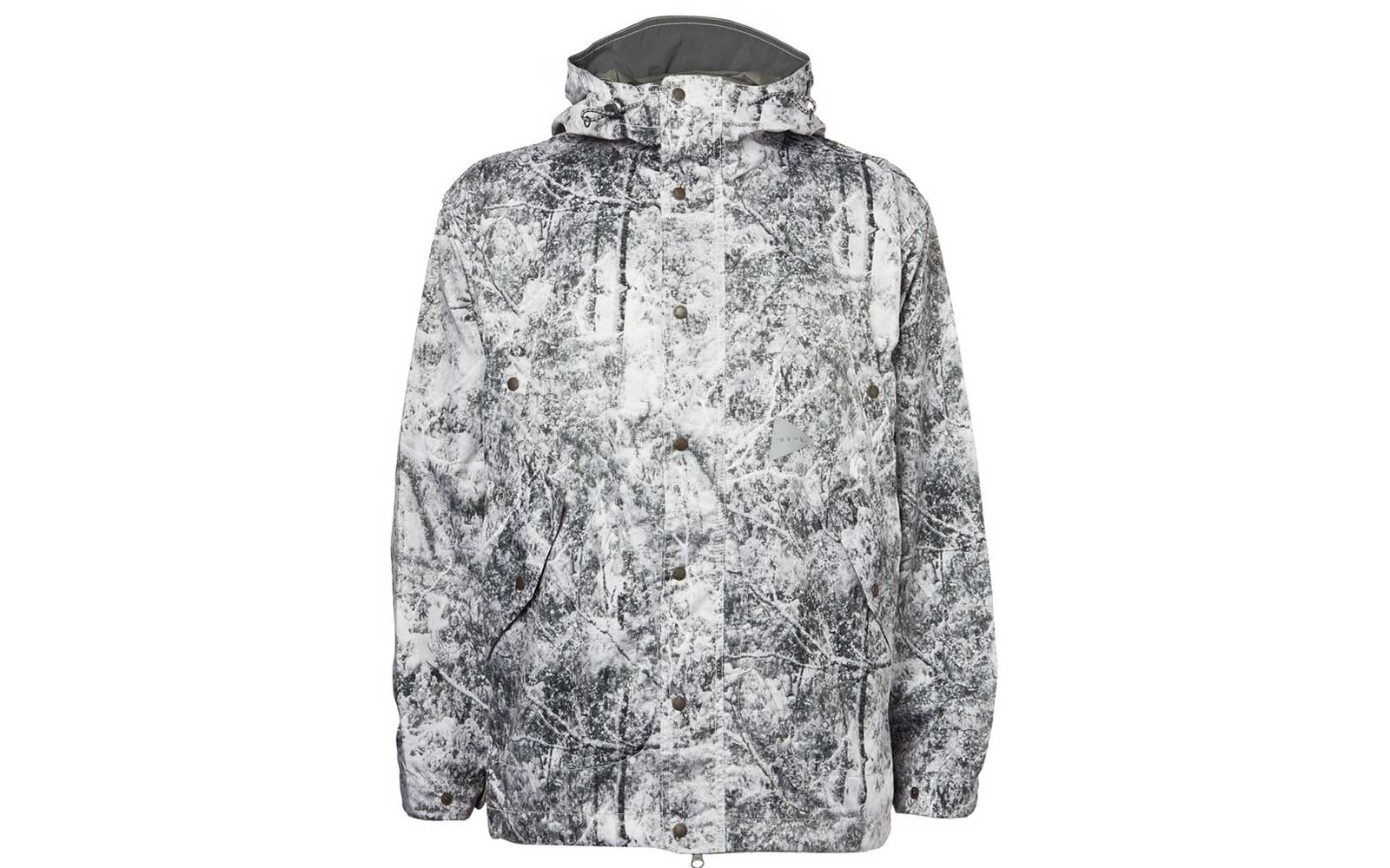 Forest print ski jacket from AND WANDER