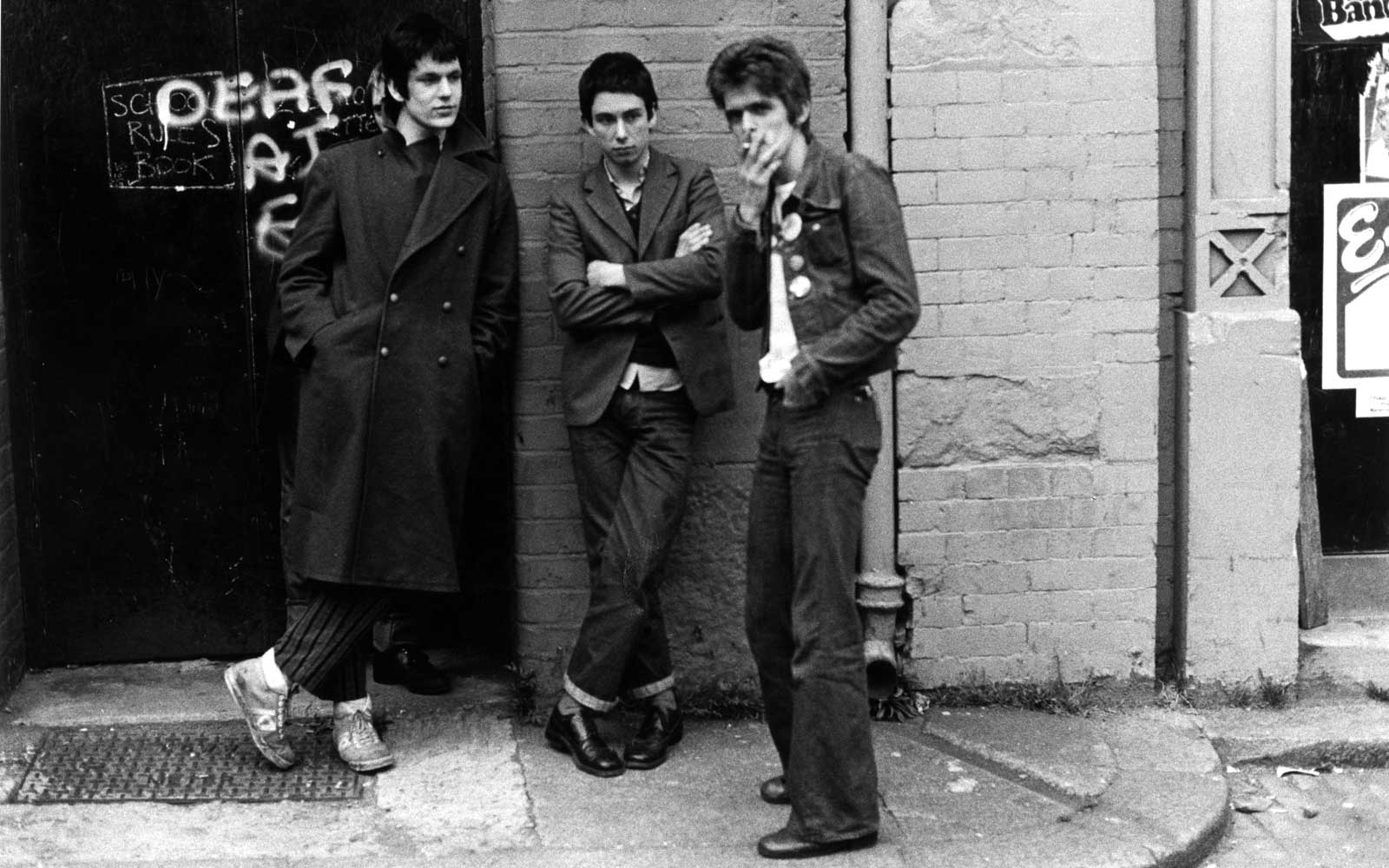 Fans outside a Ramones gig at Eric's in Liverpool