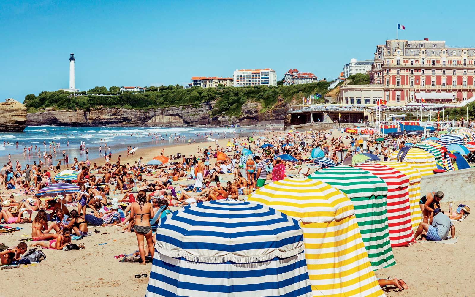 The Grand Plage in Biarritz, France