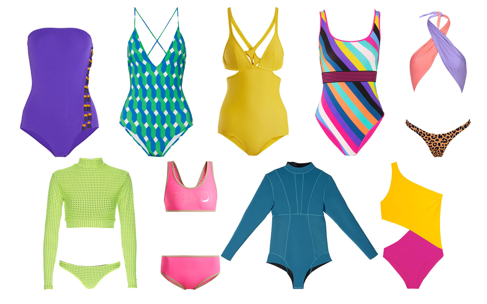 Graphic Neon Swimwear for 2018