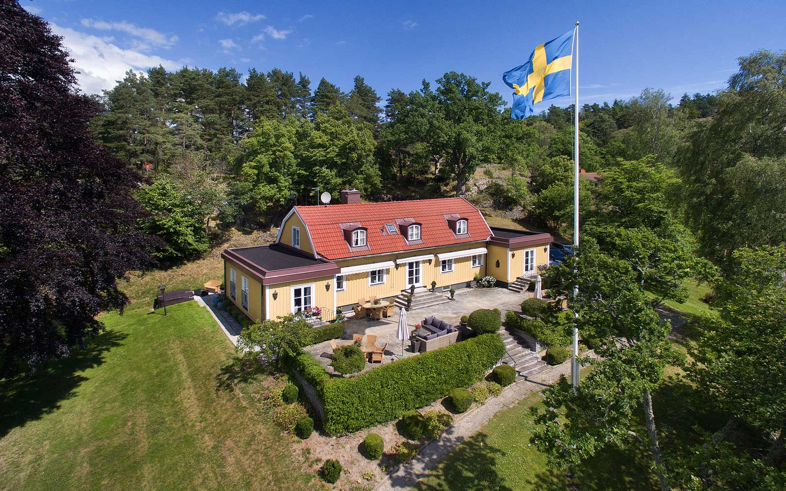 Greta Garbo's summer vacation home in Stockholm
