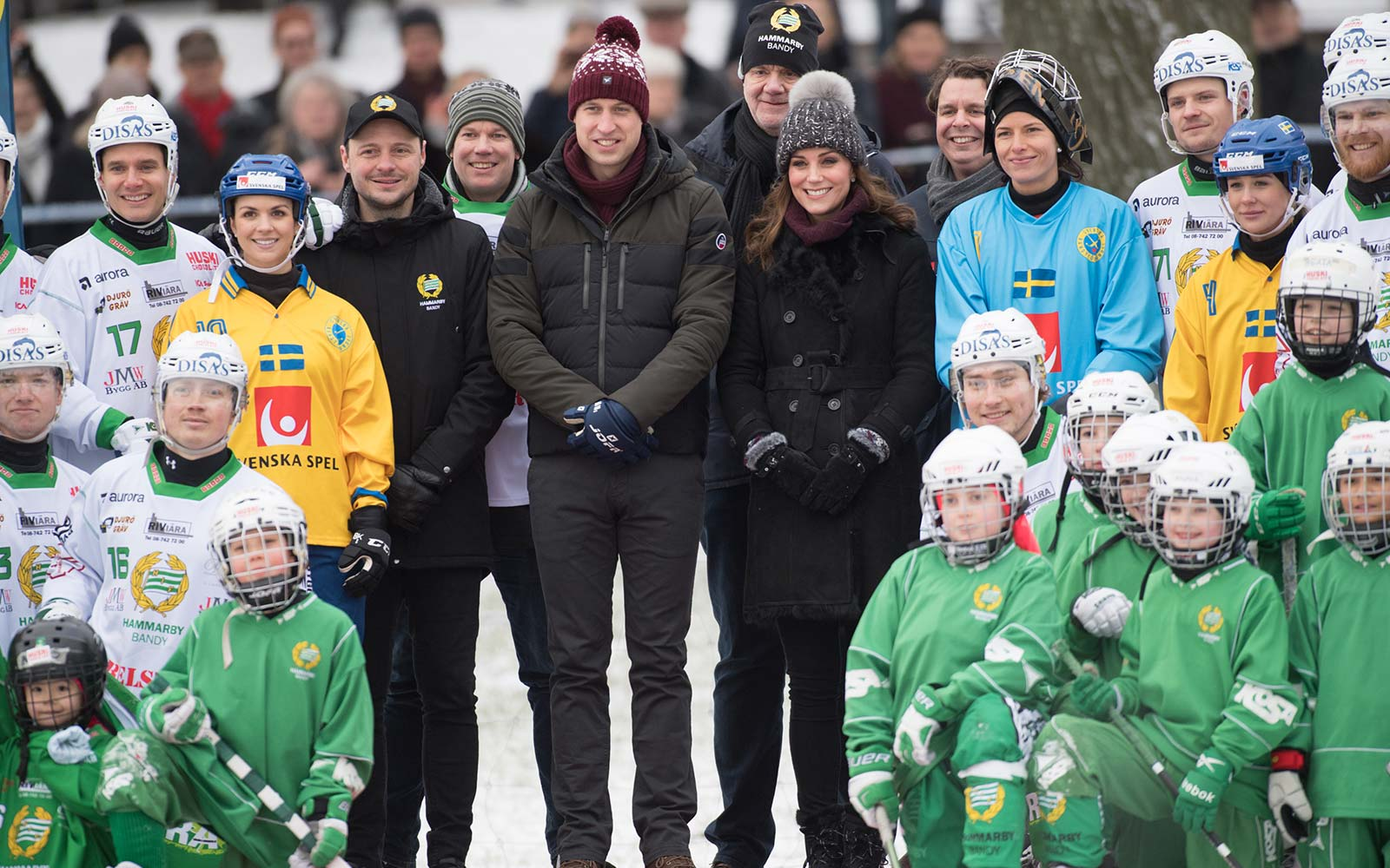 Kate Middleton Prince William Royal Visit Norway Sweden Hockey Game