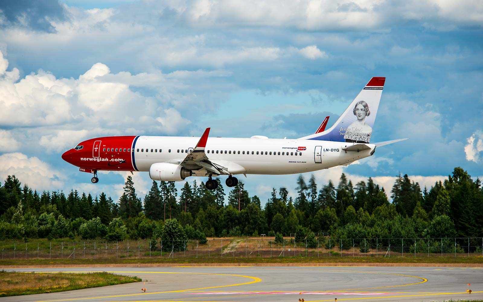Norwegian Boeing 737-800 Airplane Oslo