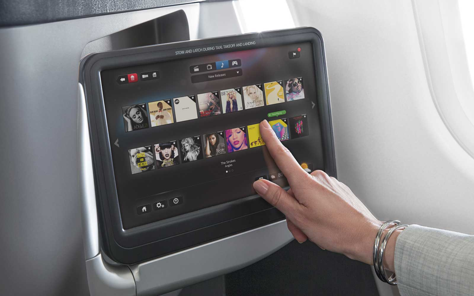 Onboard Movie Touchscreen