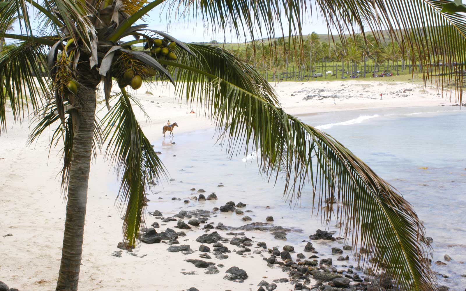 Ovahe a secluded cove with a beautiful beach on Easter Island
