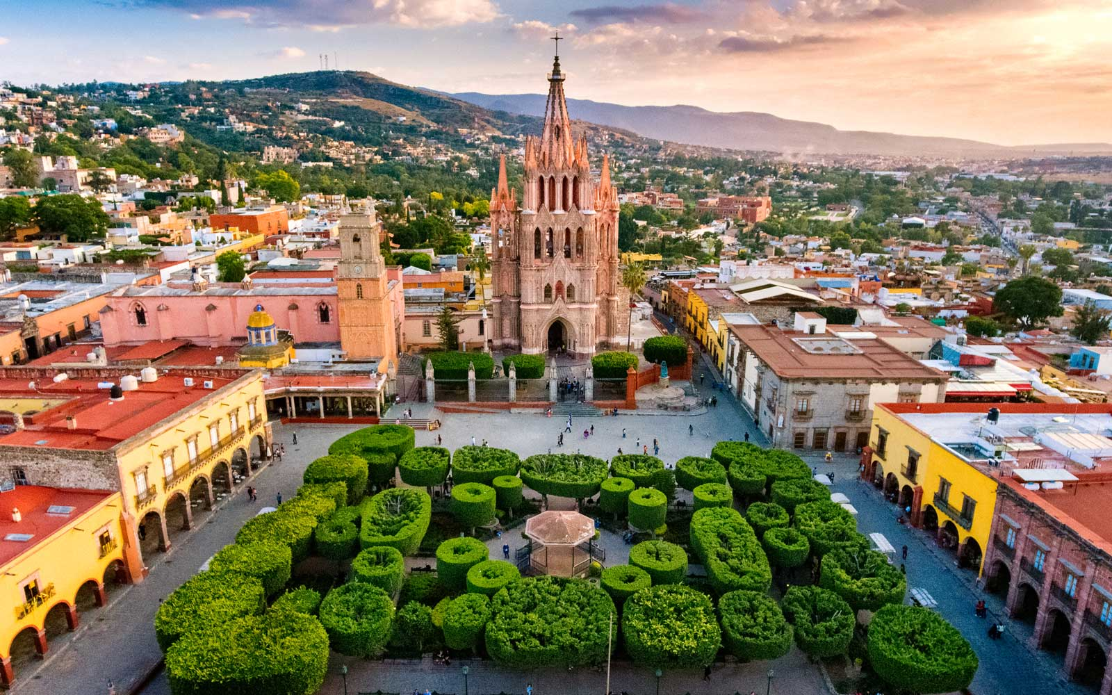 Overview of San Miguel de Allende, Mexico