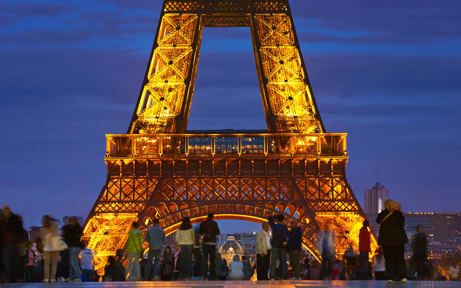 Eiffel Tower Landmark Paris France Tourists Social Hour