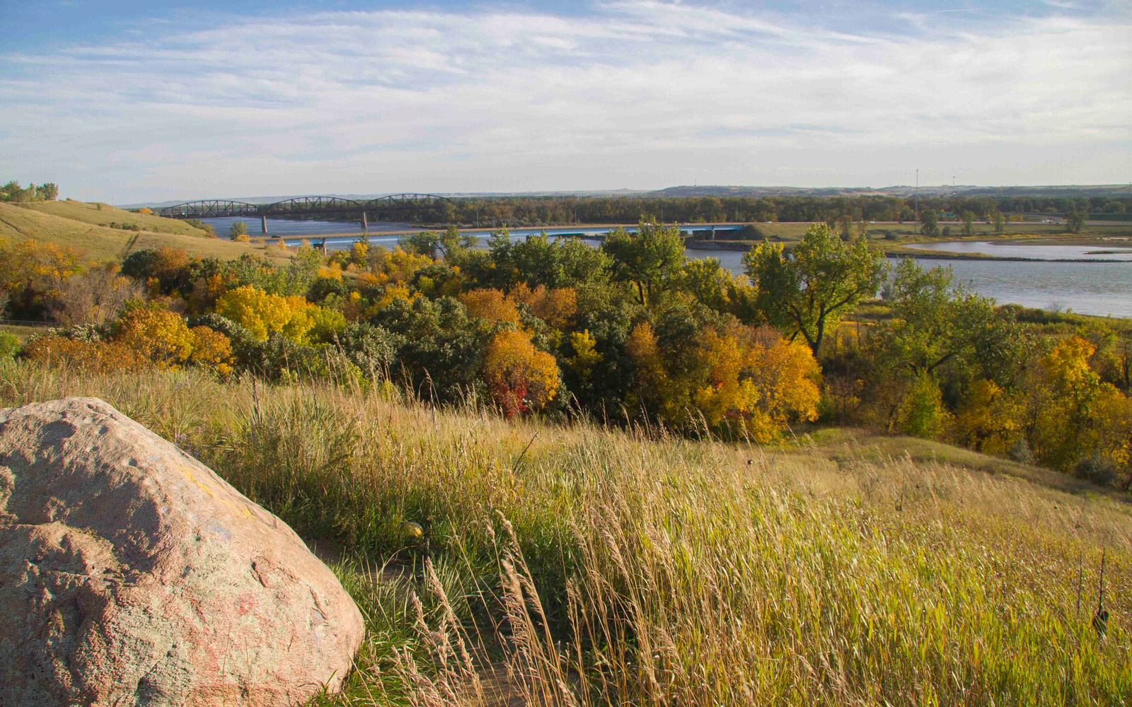 View of Bismarck in Fall