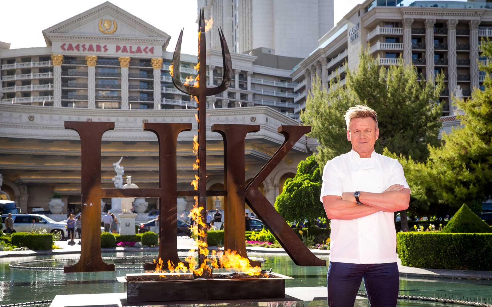 Gordon Ramsay opens Hell's Kitchen in Las Vegas at Caesar Palace