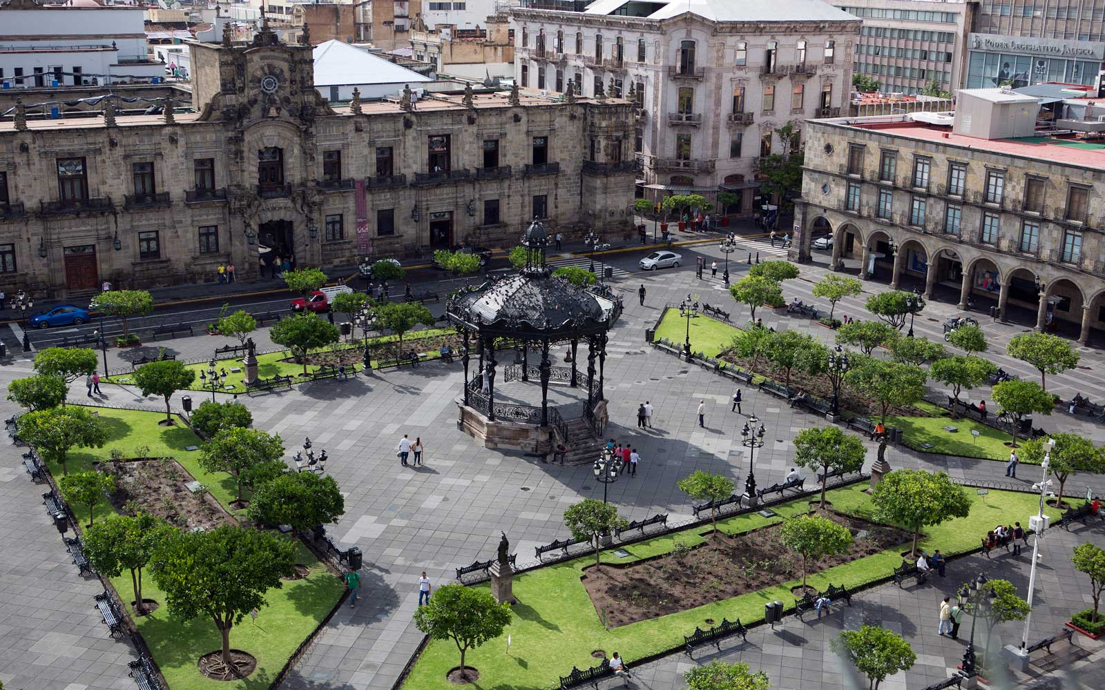Main Plaza in Guadalajara, Mexico