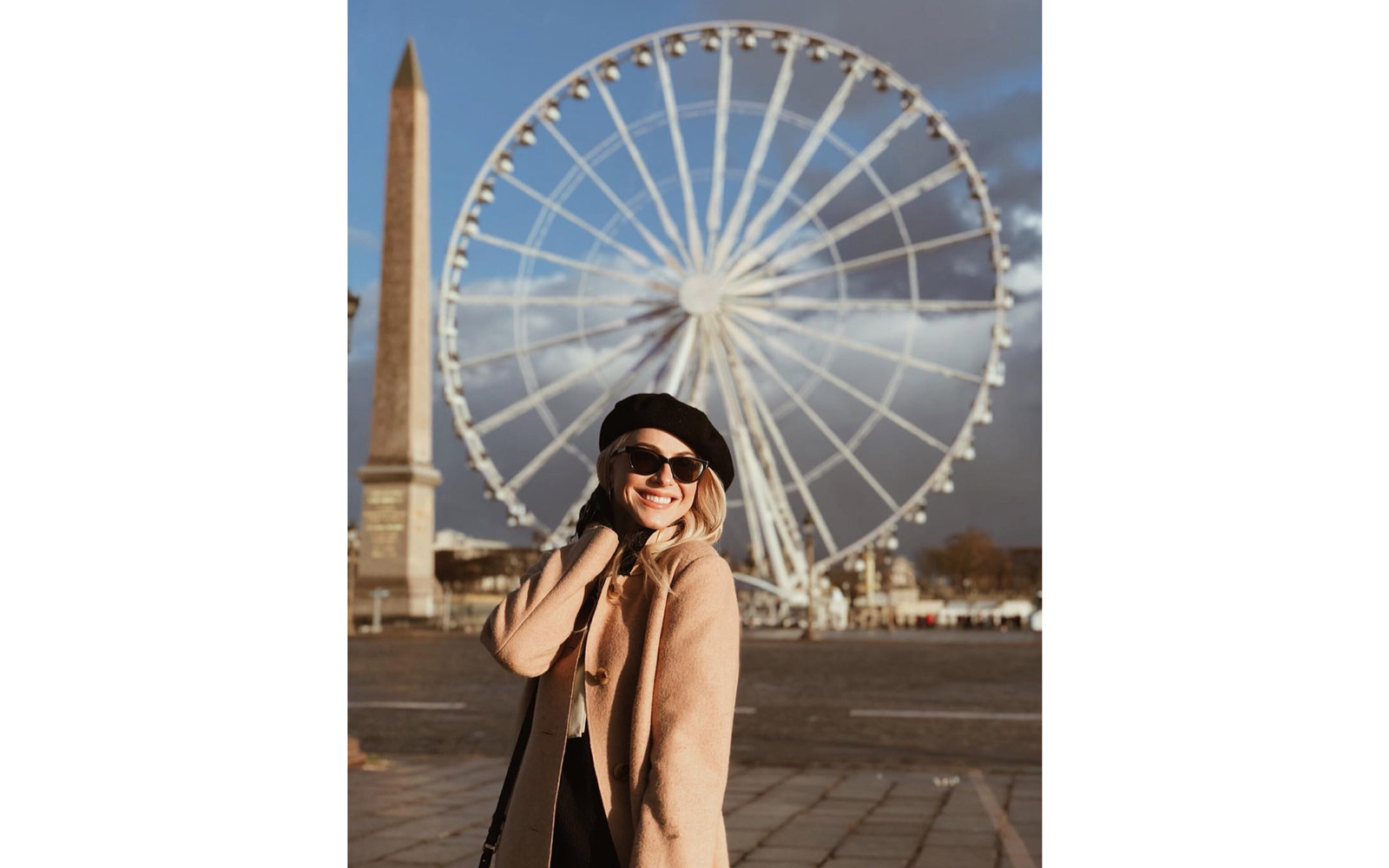 Julianne Hough at the Big Wheel in Place de la Concorde.