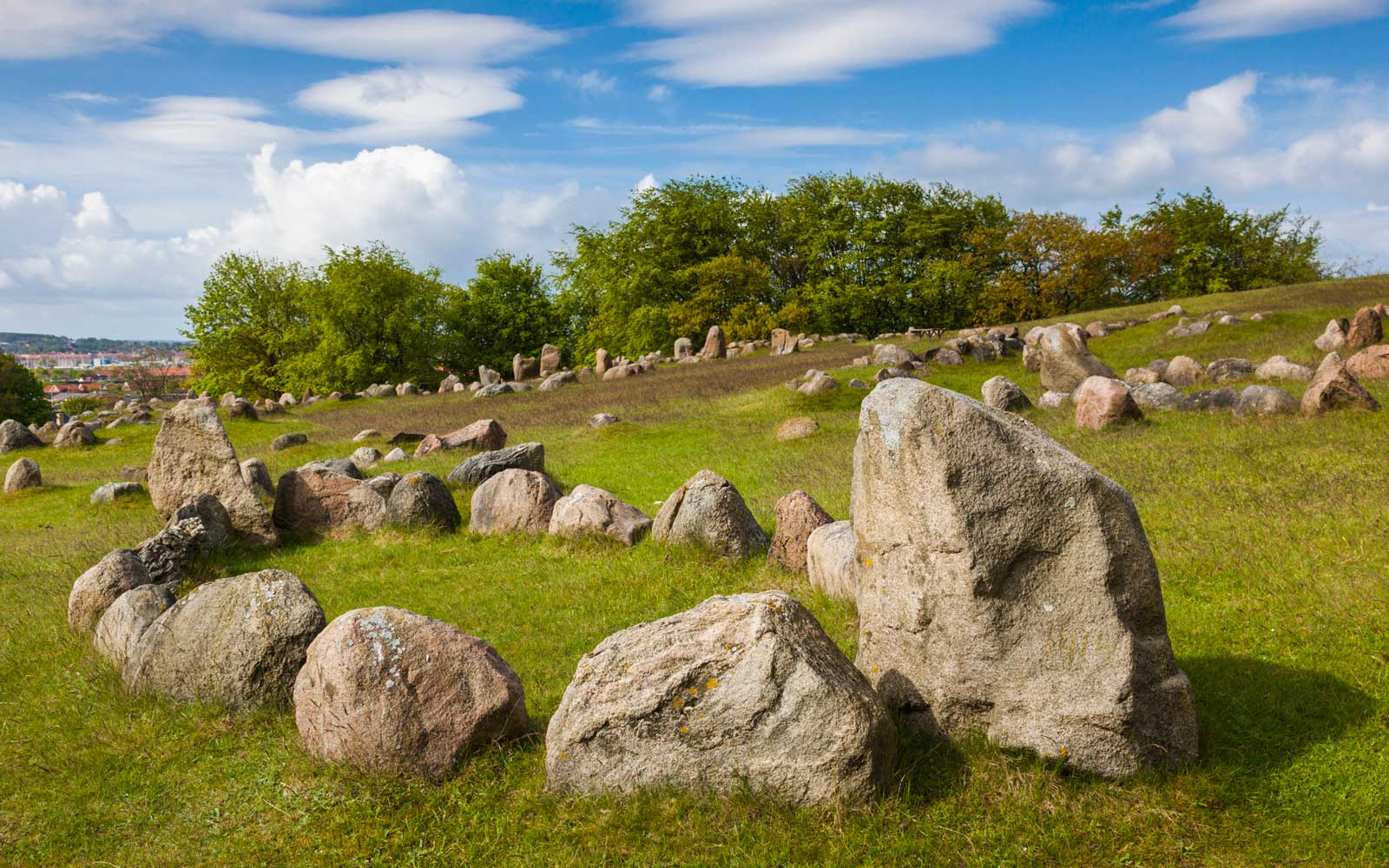 Lindholm Hoje viking burial ground, in Denmark