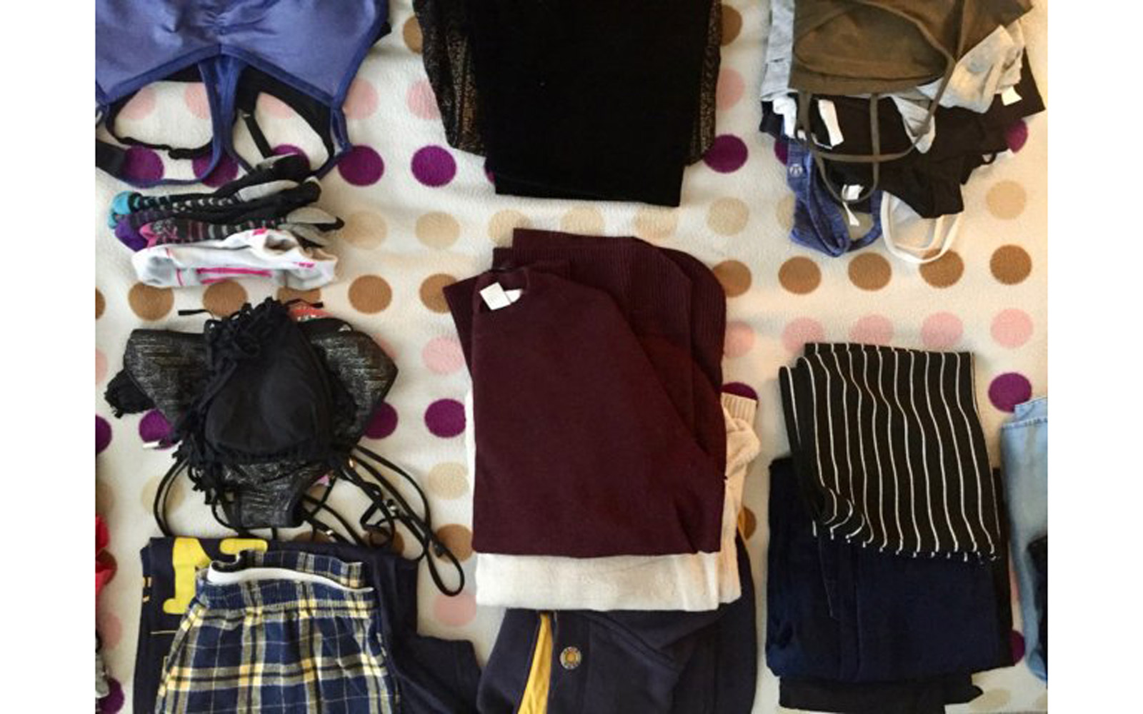 What Marina Nazario packed on 9-month trip