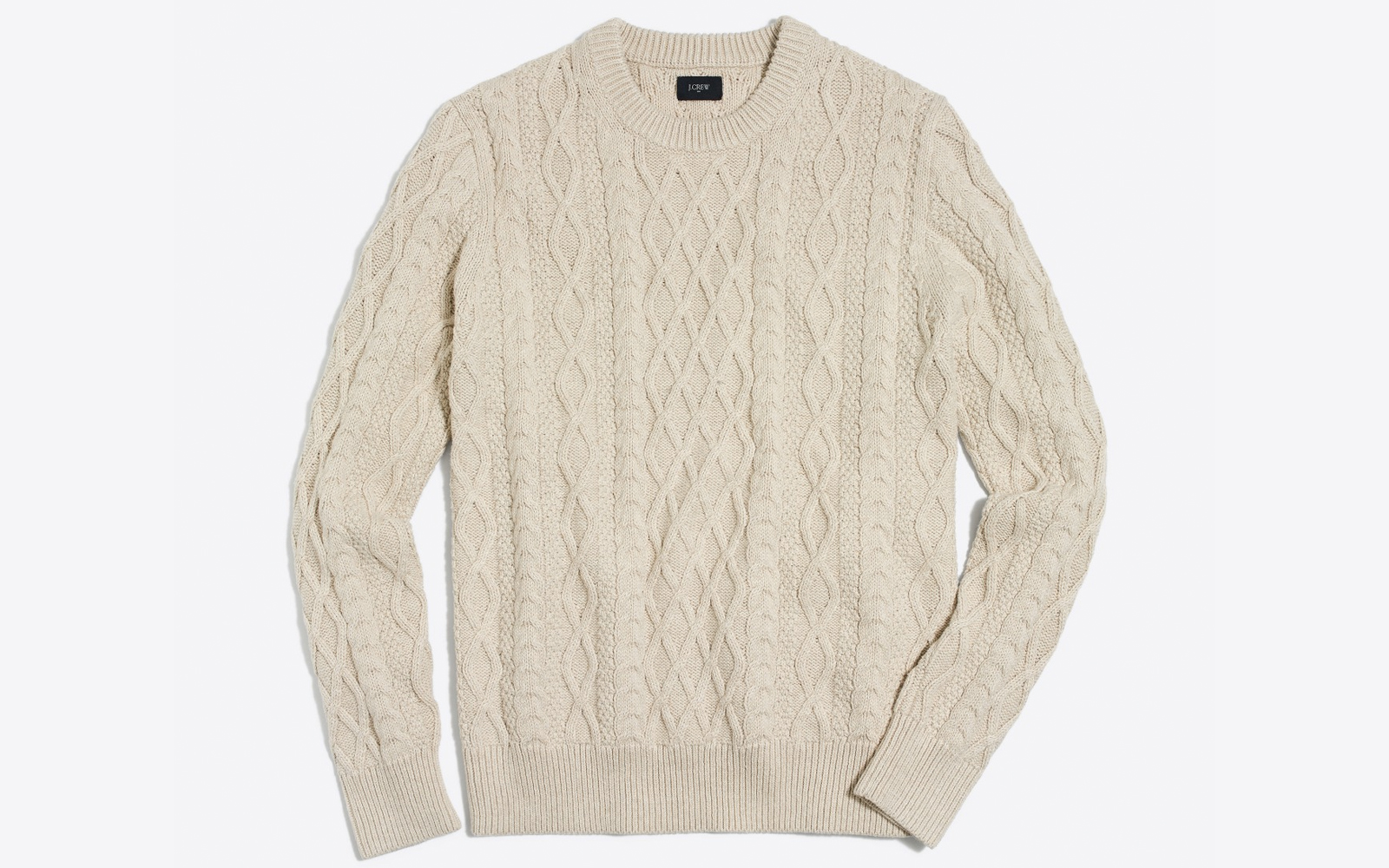 Men's Fisherman Cable Crewneck Sweater