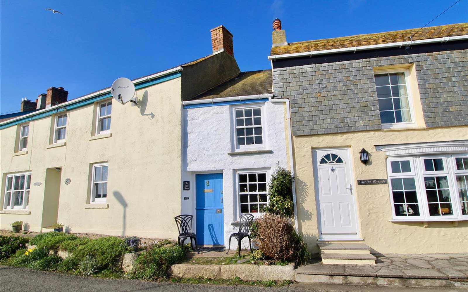 Narrow Cottage in village of Porthleven, Cornwall.