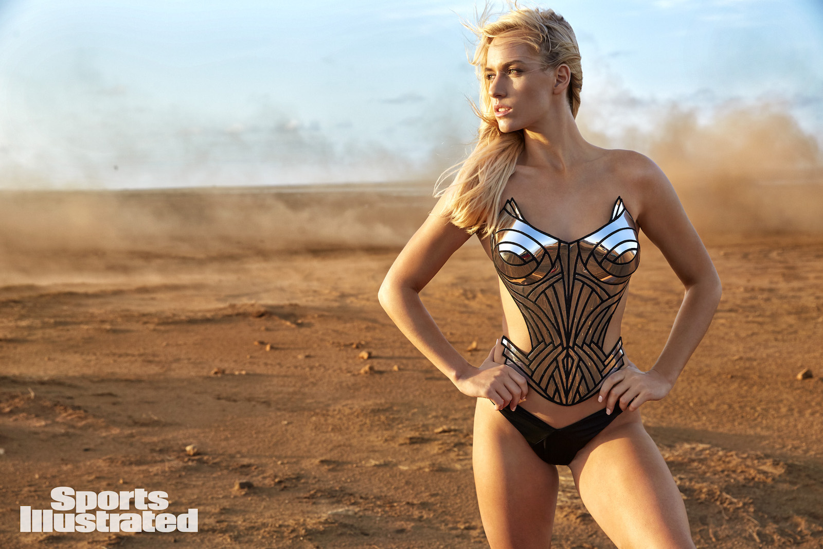 Pro golfer and Instagram star Paige Spiranac poses for Sports Illustrated Swimsuit Issue 2018