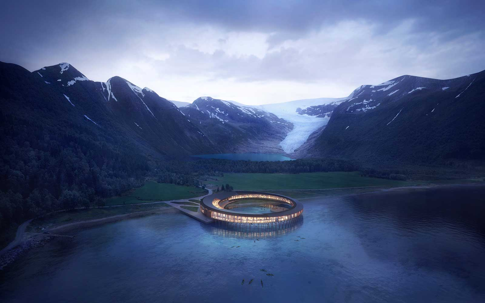Overview of the Svart Arctic Circle Hotel