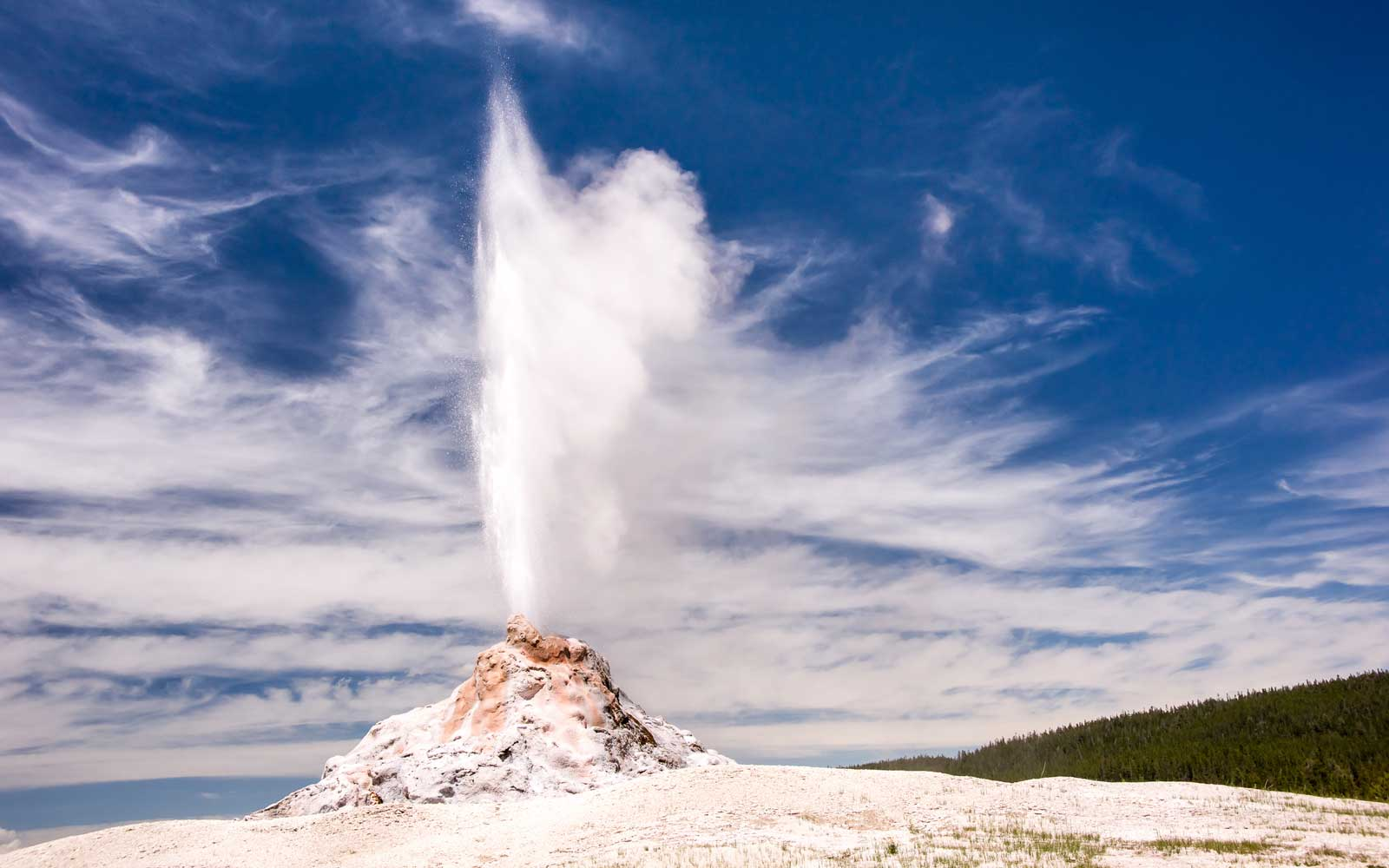 White Dome Geyser, in Yellowstone National Park