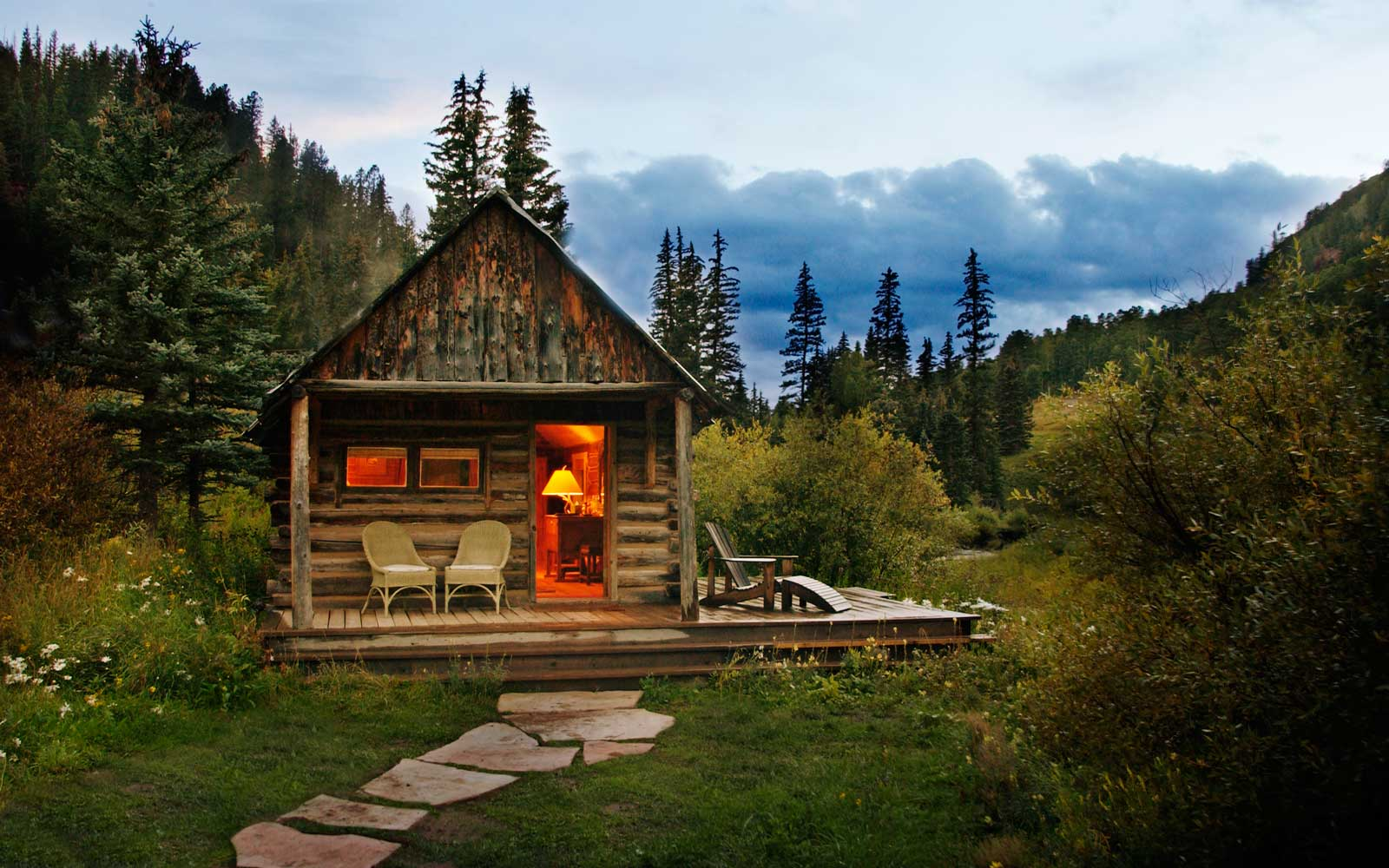 The Dolores Cabin, at Dunton Hot Springs, Colorado