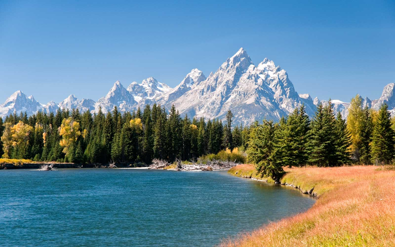 Grand Tetons Mountians and The Snake River