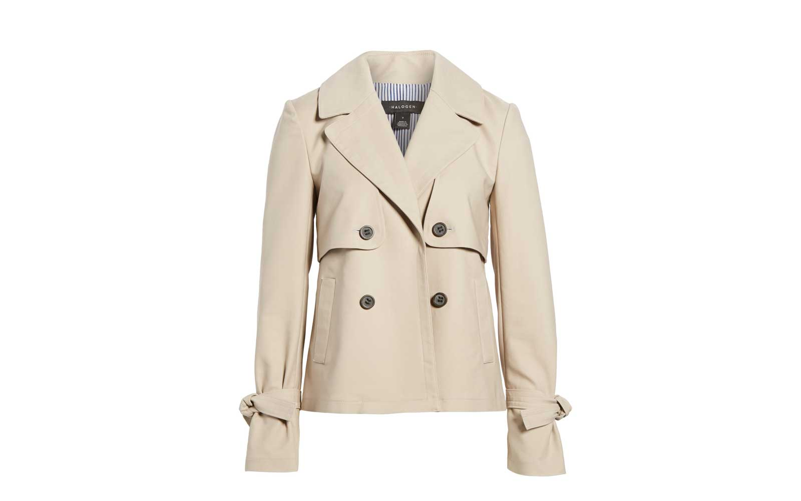 Halogen Short Trench Coat