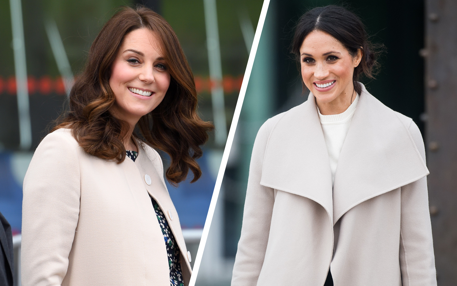 Duchess Catherine of Cambridge and Meghan Markle