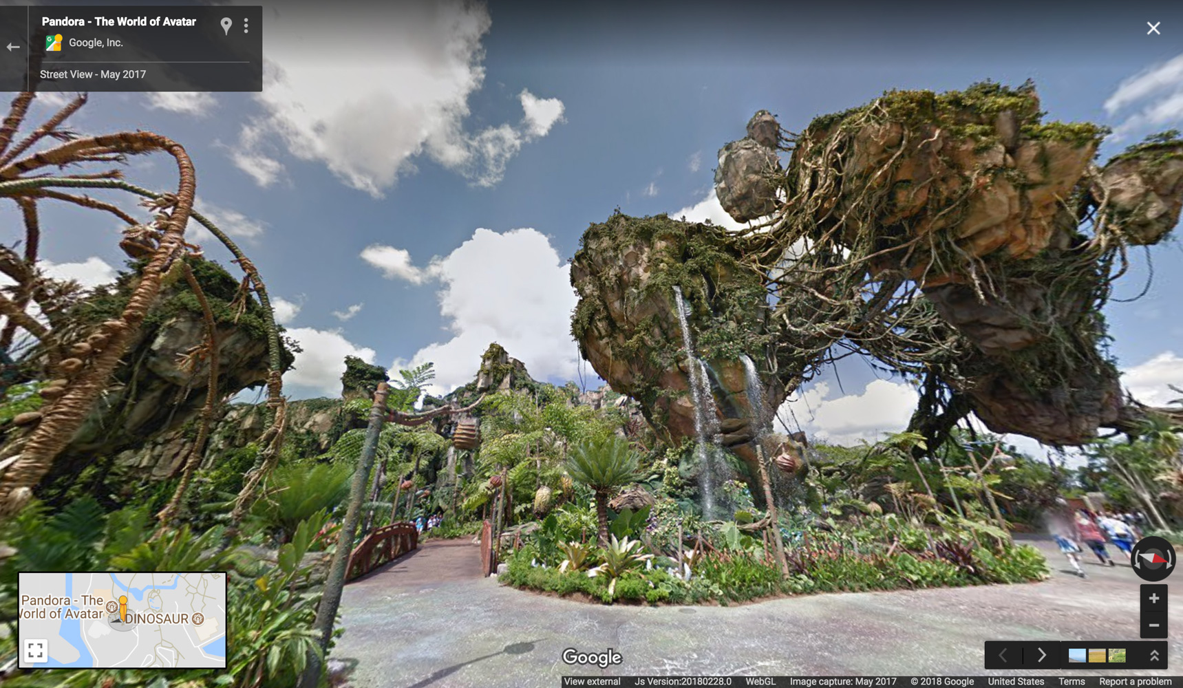 Google Maps has added Disney parks in California and Florida to Street View.