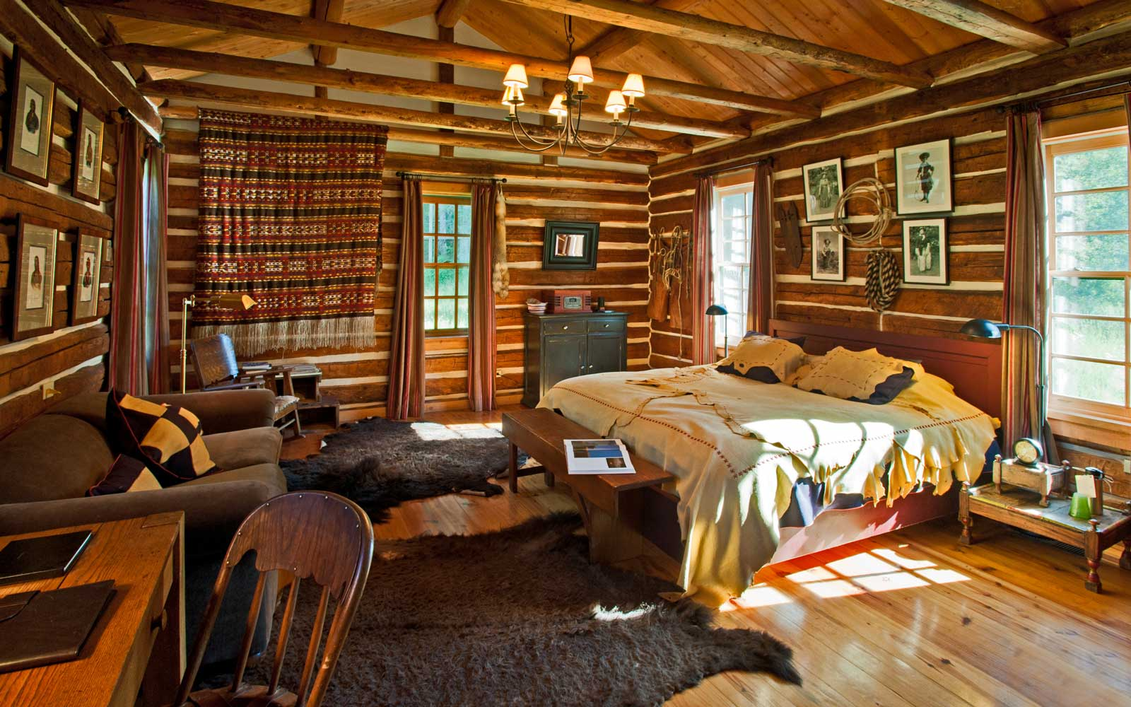 Interior of the Major Ross Cabin at Dunton Hot Springs, in Colorado