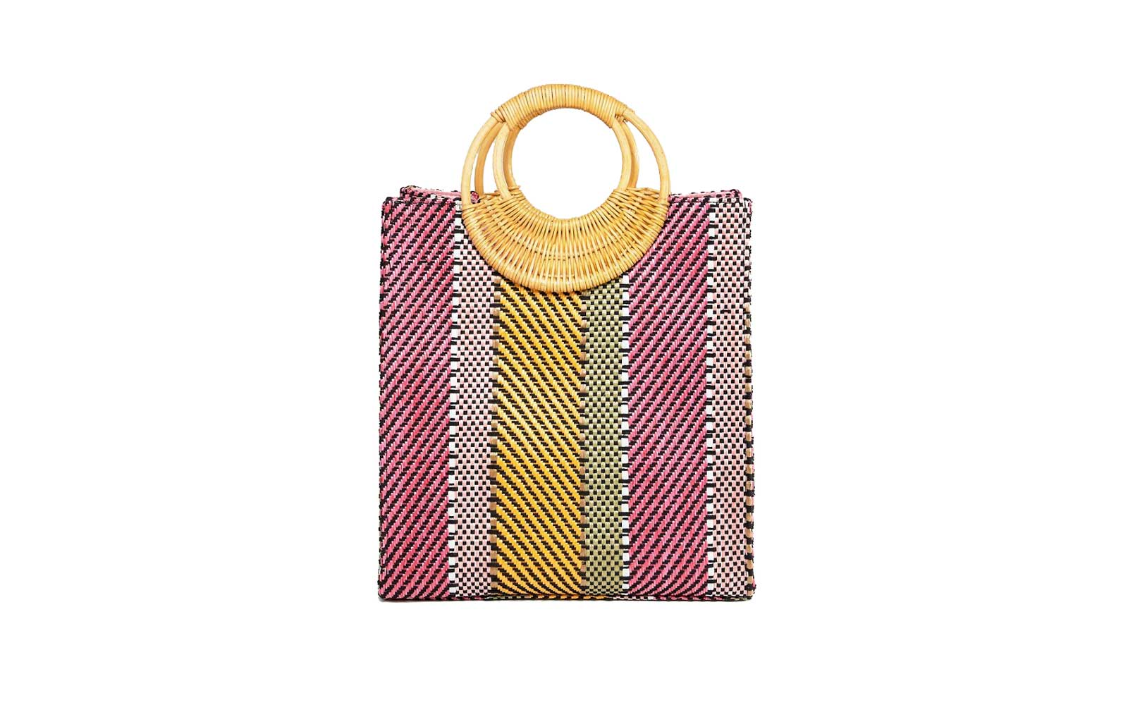 asos colorful straw bag
