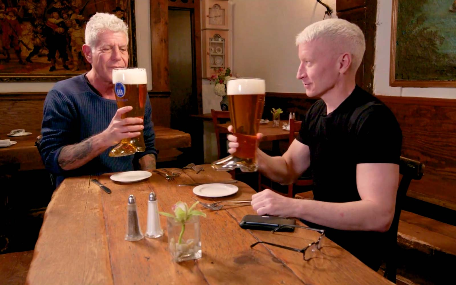 Anthony Bourdain and Anderson Cooper