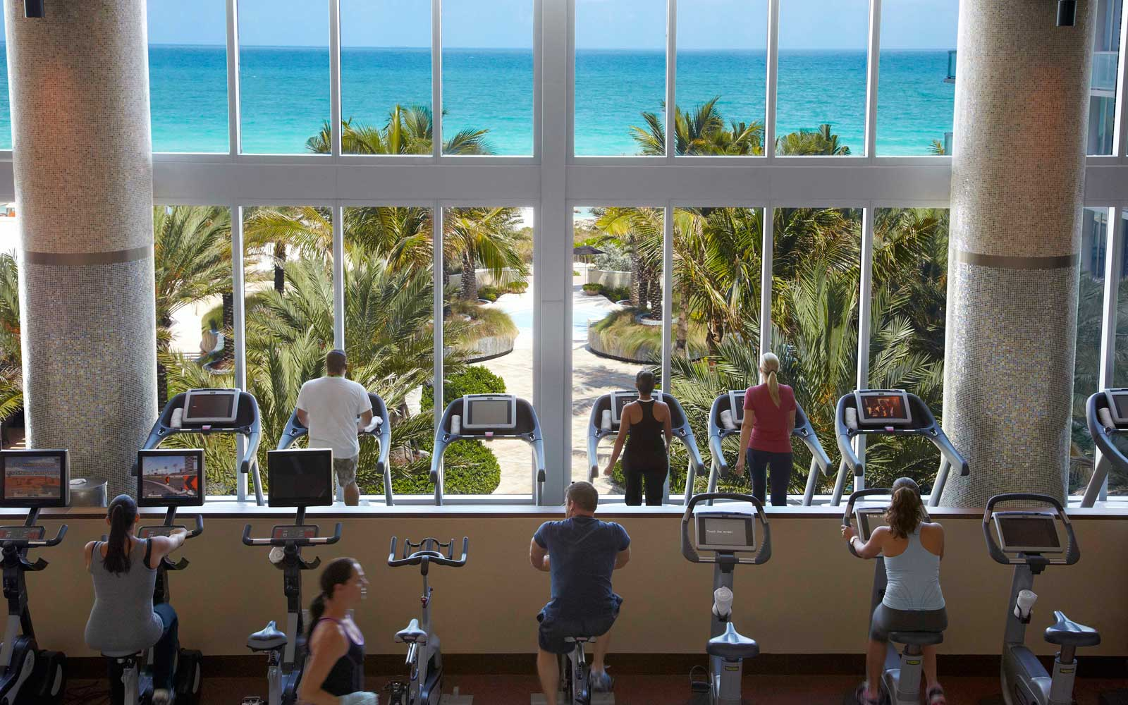Gym at the Carillon Miami Wellness Resort