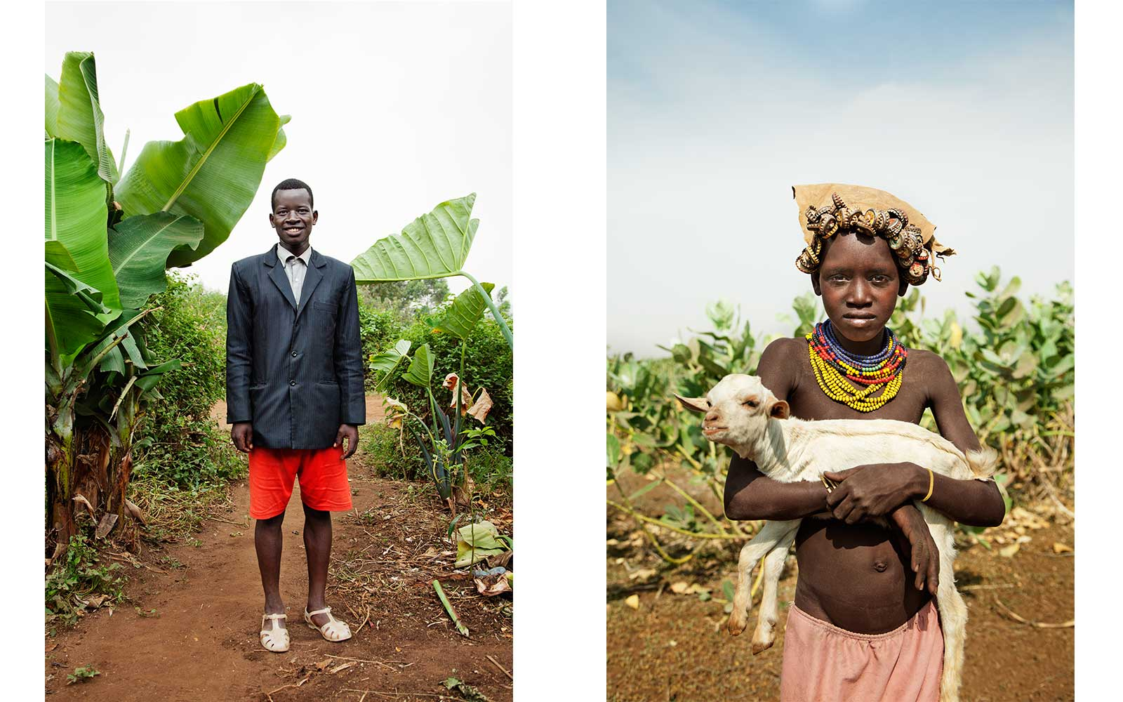 Left: Important Day, Ethiopia 2013. Daasanach Girl and Goat, Ethiopia 2013. From Circadian Landscape by Jessica Antola.