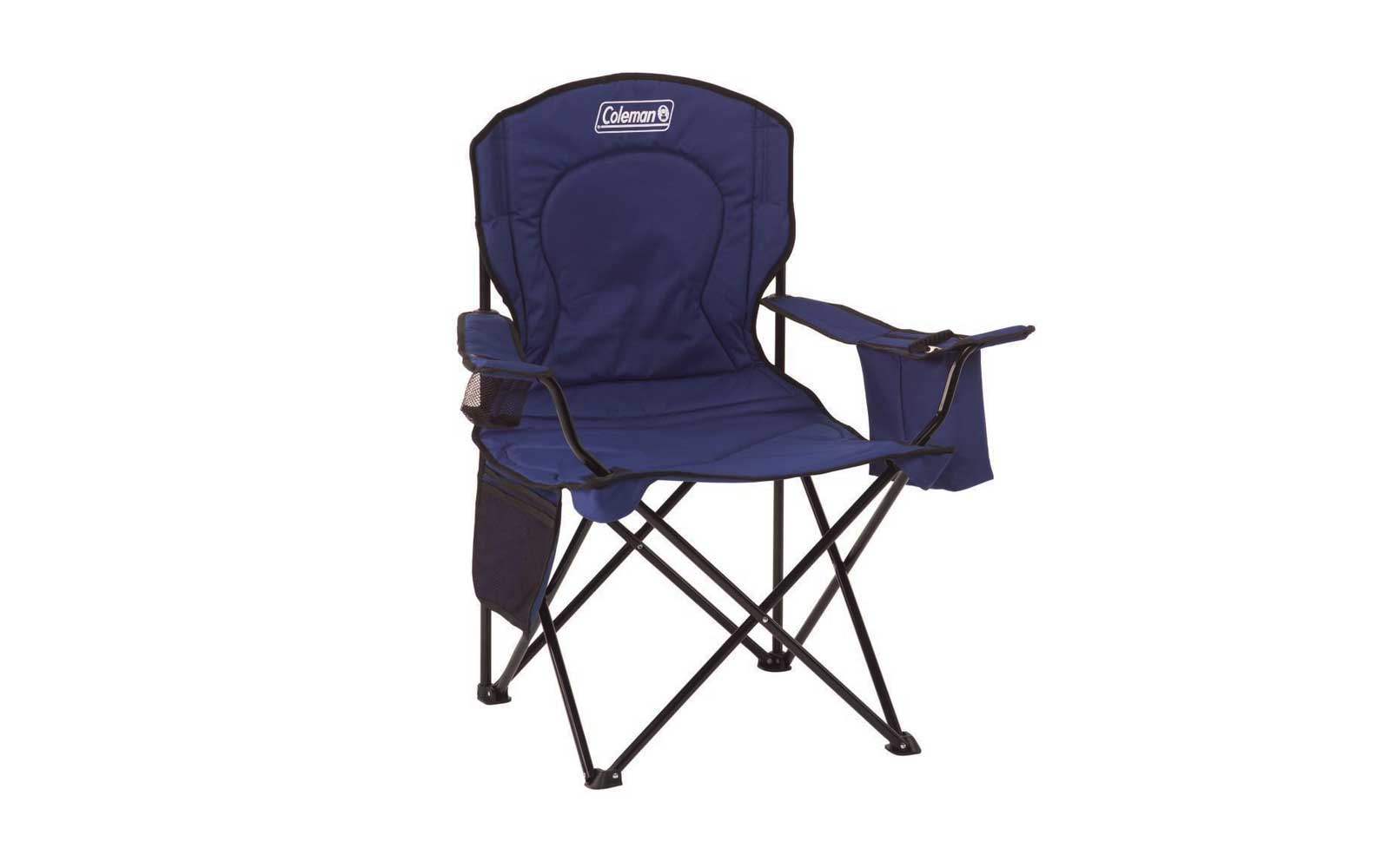 Camp Chair: Coleman Oversized Quad Chair With Cooler