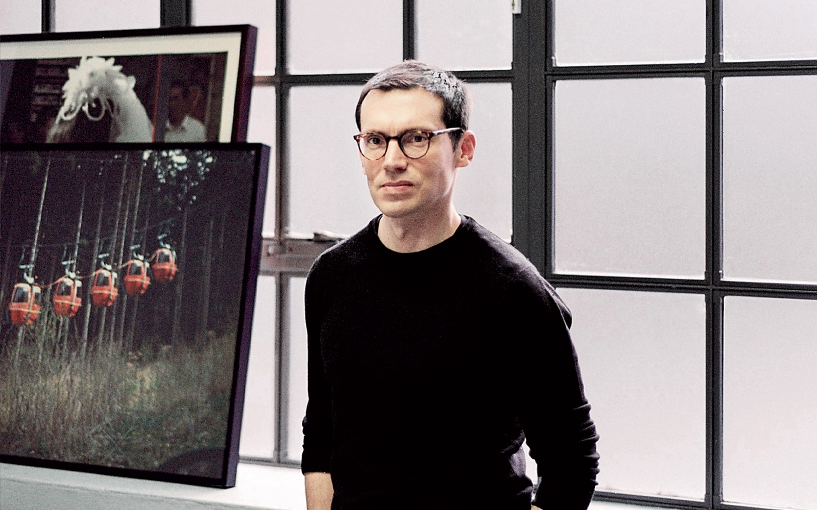 Erdem Moralioglu at his studio in London