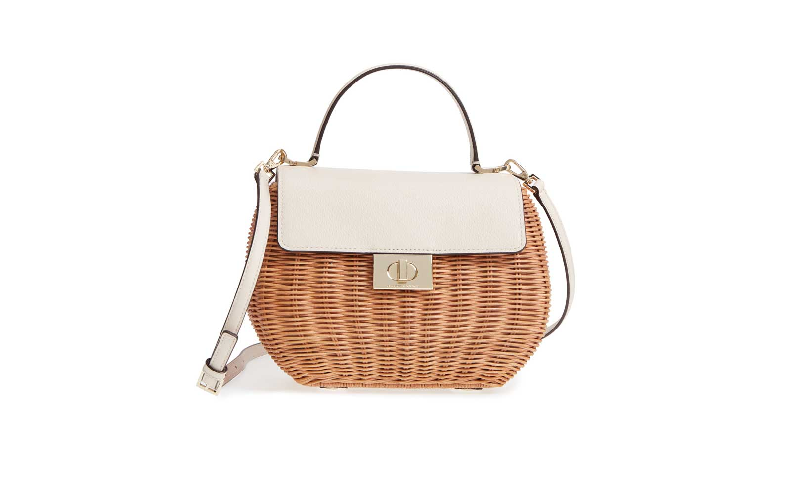 Kate Spade New York Bloom Street 'Justina' Wicker Satchel