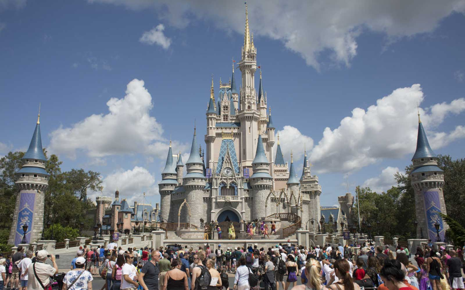 Disney Welcomes Back Guests To Windblown Florida Theme Park