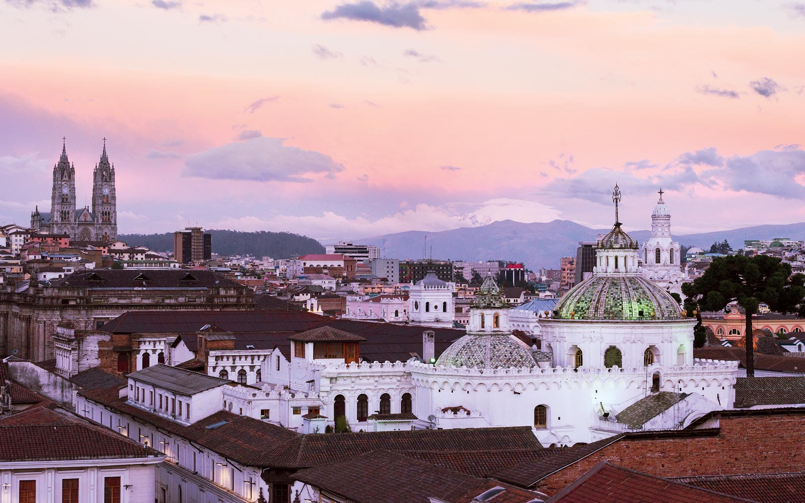 View of the Quito, Ecuador skyline