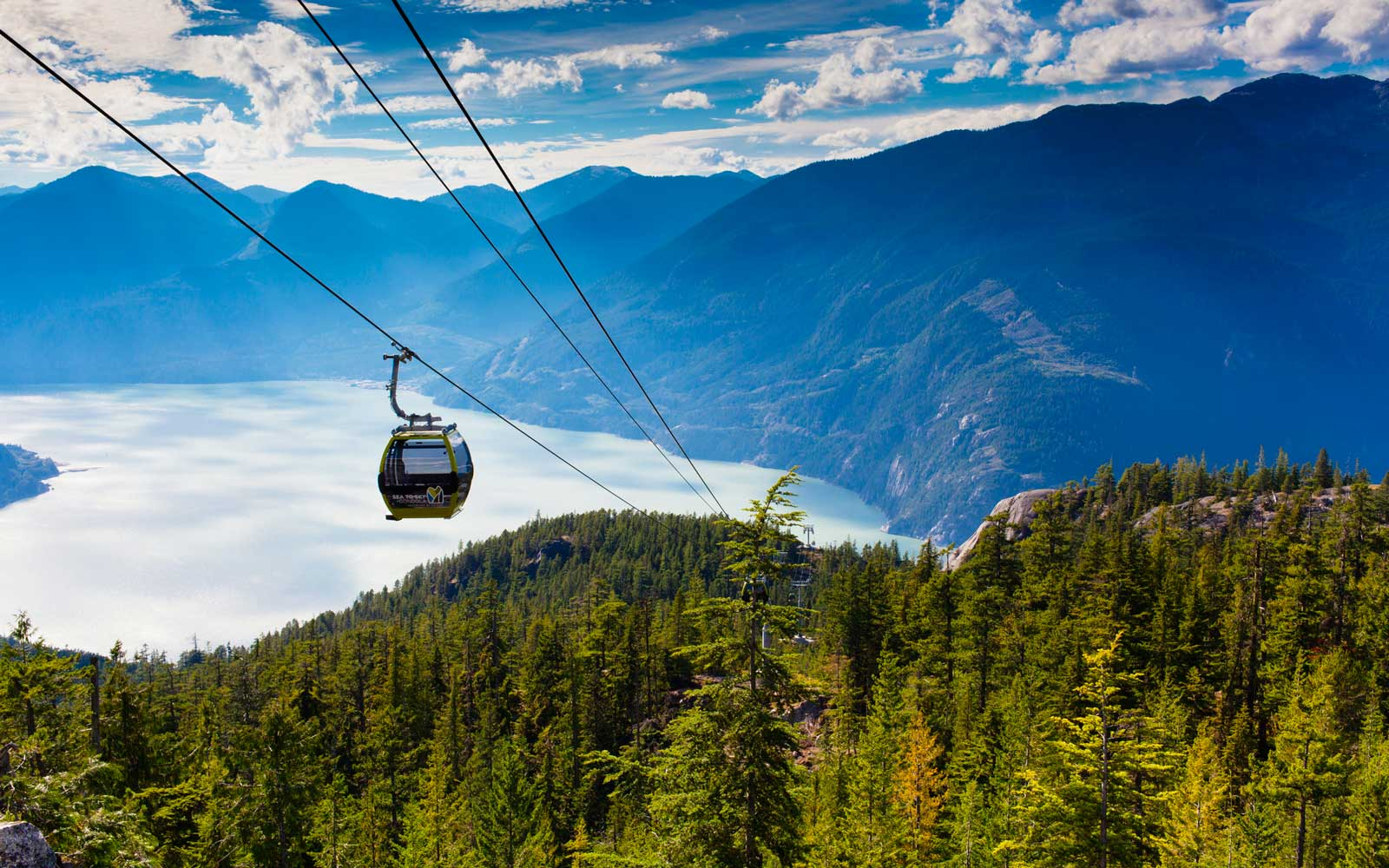 Sea to Sky Gondola over Squamish, British Columbia, Canada